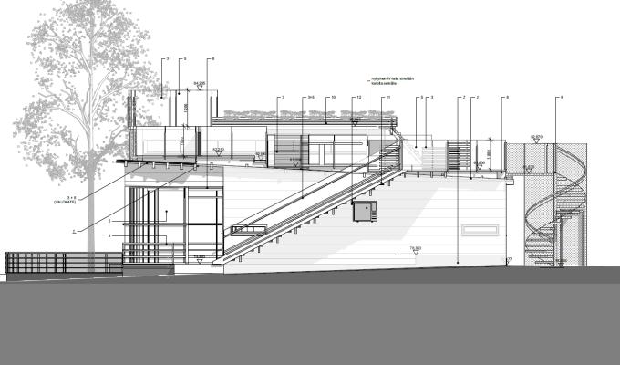 Kahvila Kafiinaan Lappeenrannan satamassa suunnitteillakattoterassi